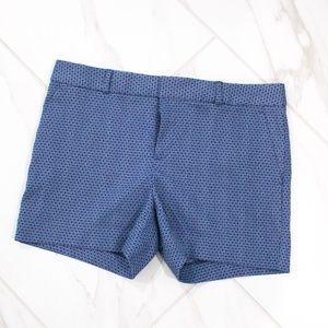✨Banana Republic   Blue Pattern Mid Rise Shorts